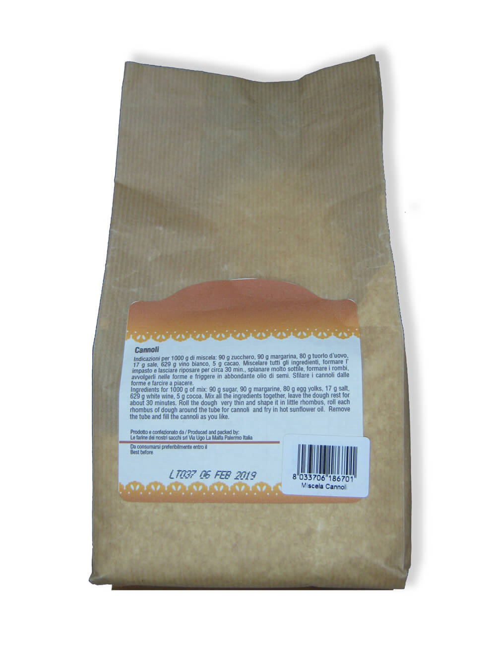 immagine miscela cannoliLe farine dei nostri sacchi retro